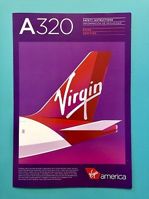 2015 Virgin America Safety Card--Airbus 320 Etops Rev#1
