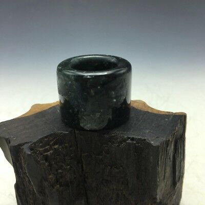 Exquisite Chinese antique ancient jade natural hand-carved jade ring a256