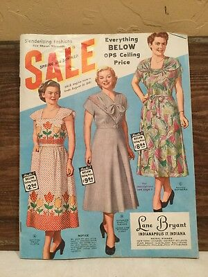 Vintage 1951 Spring & Summer Lane Bryant Store Sale Catalog Fashion Magazine