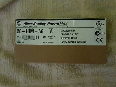 New Factory Sealed Allen Bradley 20-Him-A6 Series A Powerflex Him Module
