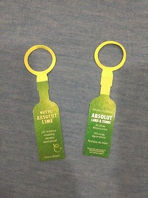 Absolut Vodka Lime Tag neck tag limited edition