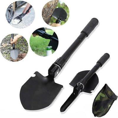 Portable Folding Camping Shovel Steel Spade Outdoor Tool Emergency Survival Kit.