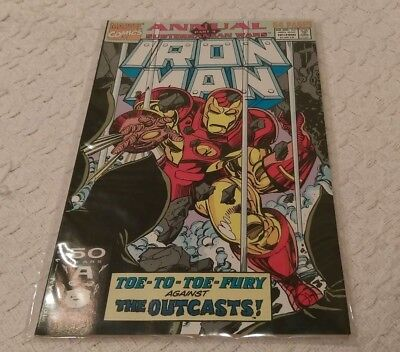 Marvel Comics - IRON MAN ANNUAL #12 - 1991 - 8/10+ CONDITION - BEAUTIFUL & RARE!