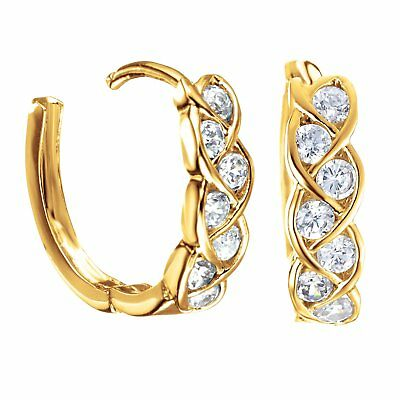 Women's Jewelry 18K Yellow Gold Filled Small Hoop Huggie Earrings 096AUINF