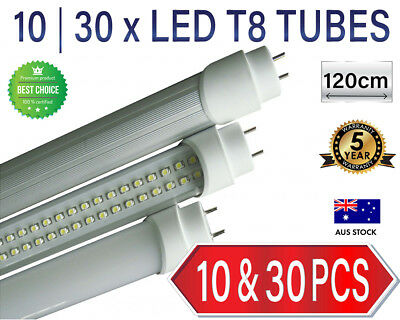 10 | 30x 12W LED Tube 240V LED 120cm T8 fluorescent replacement [Plus Starters]