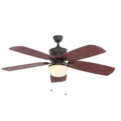 Hampton Bay Rocio 60 In Natural Iron Indoor Outdoor Ceiling Fan With Light Kit 152 52 Picclick