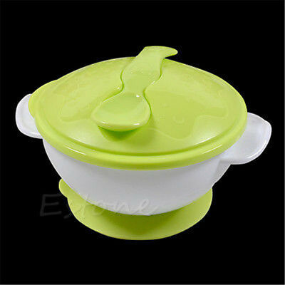 Vogue Baby Kids Suction Cup Slip-resistant Tableware Sucker Fedding Bowl Set