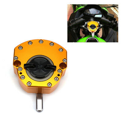 CNC Universal Motorcycle Adjustable Steering Damper Stabilizer Safety Control
