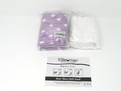 "TURBIE BAND by Turnbie Twist® White Head Band  /""No Hair Face Care/"" New in Pkg"