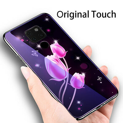 Laser Glass Phone Case for Huawei Mate 20 Honor View Note 10 9 8 Lite 8X Cover