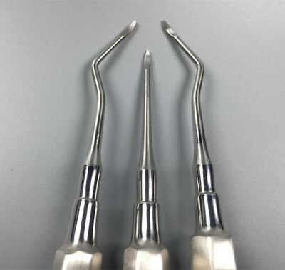 3 Pcs Dental Apical/Apex Elevator Tooth Extraction Root Tip Elevators #1 2 3