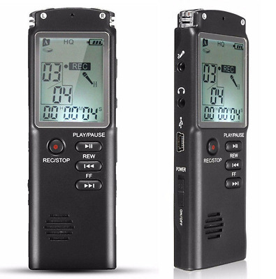 16G/8G LCD Rechargeable Steel Digital Audio Sound Voice Recorder Dictaphone MP3
