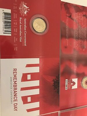 X 4 2018 $2 'C' Mintmark Uncirculated Coin Remembrance Day -Armistice Centenary