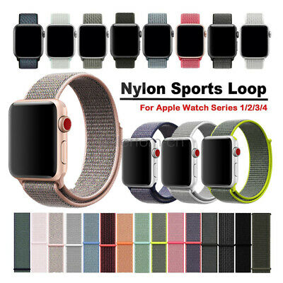 Gewebte Nylon Sport Loop Uhren Armband iWatch Strap für Apple Watch Series 4 3 2