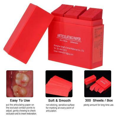 300 Sheets/Box Dental Restoration Occlusion Articulating Paper Double Side Red
