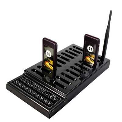 Restaurant Coaster Wireless Guest Waiter Calling Paging Queuing System 20 Pagers