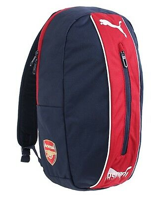 PUMA Arsenal FC Fanwear Backpack Bags Sports Navy Red Unisex Casual Bag  07523501 96cdd2a9c063b