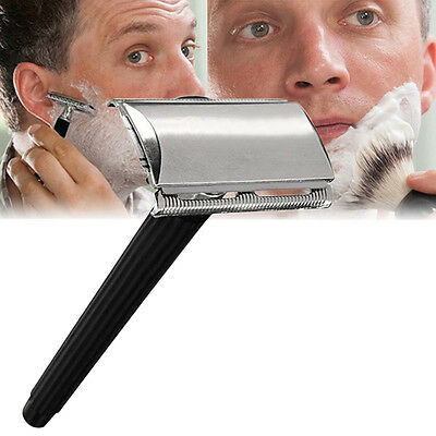 Classic Stainless Steel Manual Shaver Double Edge Blade Travel Safety