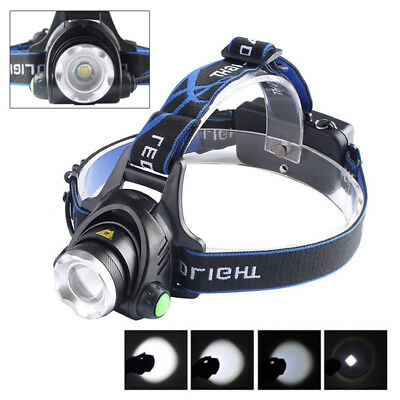 New Motion Sensor LED Headlamp USB Rechargeable Running Headlight Head Torch