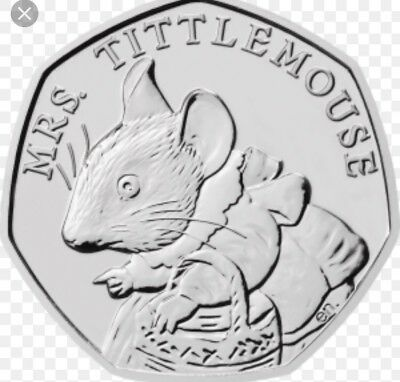 mrs tittlemouse 50p coin Uncirculated From Sealed Bag