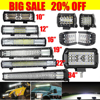 20INCH Philips LED Light Bar Dual Row Combo Beam Work Driving Offroad 4WD 23/34'