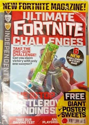 Ultimate  Fortnite Challenges Magazine 2018 = # 02=6 New Challenges=Free Gifts