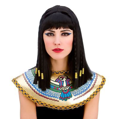 Adult Ladies Cleopatra Egyptian Queen Goddess Braided Book Week Fancy Dress Wig