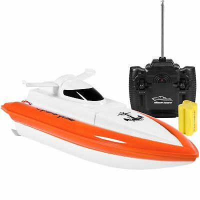 RC Boat High Speed Electric Fast Radio Remote Control Boat USB Red Yellow
