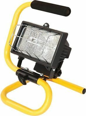 Portable Halogen Flood Light With Stand Adjustable Work Site Lamp Hand Held