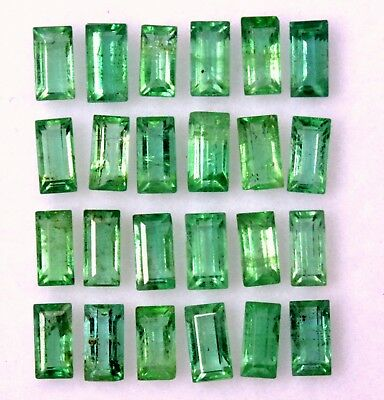 Natural Emerald Baguette Cut 4x2 mm 1.27 CTS Lot 10 Pcs Untreated Loose Gemstone