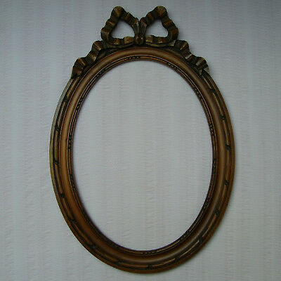Antique Vintage French Louis Xvi Style Large Hand Carved Wood Photo Frame