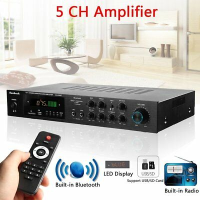 1120W Bluetooth Hi-Fi Power Amplifier 5CH Digital Stereo Surround Home Karao~v