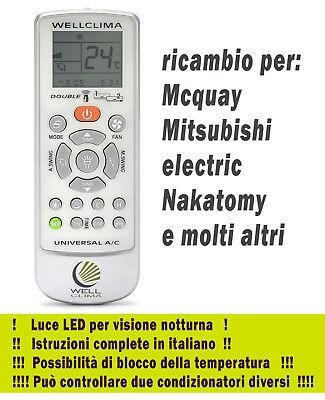 REMOTE CONTROL AIR conditioner Midea - Maxa - Aurora