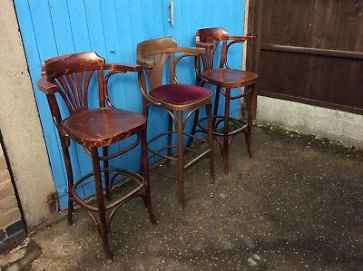Vintage Bentwood Bar Stool / High Chair C20th (Antique) x3