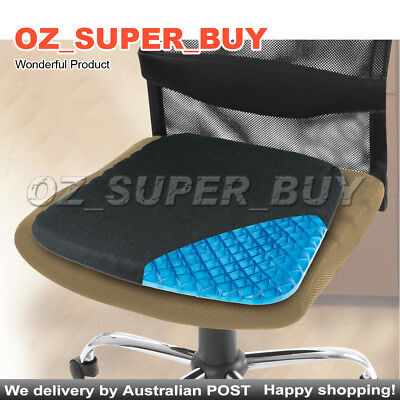 Miracle Gel Seat Cooling Cushion Non-Slip Breathable Soft Pad & Washable Cover