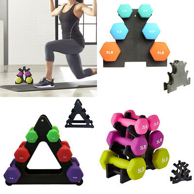 Weight Lifting Barbell 3-Tier Dumbbell Tree/Dumbbell Rack Stand Holder Bracket