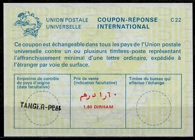 MAROC MOROCCO International Reply Coupon Reponse Antwortschein IRC IAS TANGER
