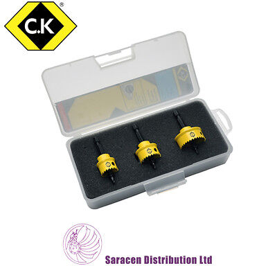 CK SHEET METAL HOLESAW SET 3 PIECE 20mm, 25mm, 32mm - T3213