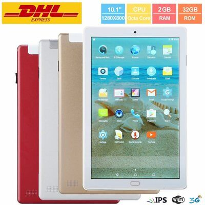 LESHP 10,1'' IPS Tablet PC Android 7.0 Octa Core 2GB+32GB 3G Dual Sim WiFi Rojo
