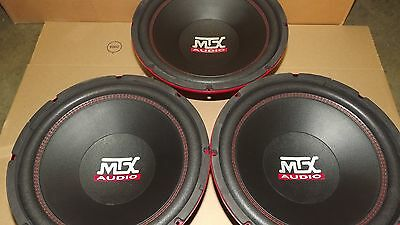 3 Mtx Audio 10 Subwoofers 100 Rms Each 35 Ohm Rt10 200