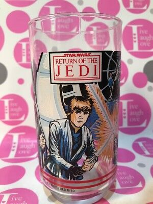 Vintage 1983 Star Wars Return Of The Jedi Glass Burger King Coca Cola ~ Exc Cond