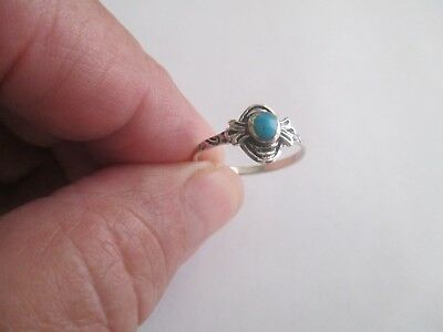 Turquoise Ring..STERLING SILVER..oval..Nice Design..light..New