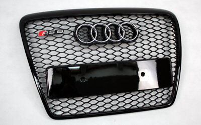 Audi A6 C6 4F RS6 RS Look Kühlergrill Grill Wabengrill Schwarz 04-11 Neu