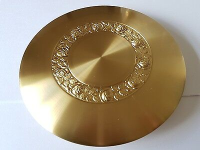 Satin Finish Brass Plated Bob Diameter 165mm Rod Size 25x7mm Embossed Floral