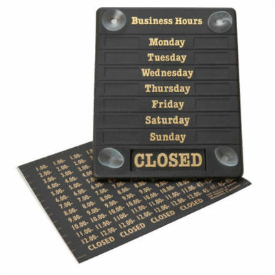 Hours of Business Sign Opening Time Open & Closed Display Door Notice