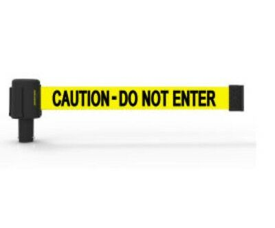 Banner Stakes 15' Caution Do Not Enter Retractable Barricade System NEW