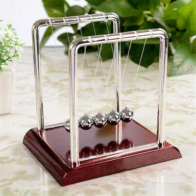 5 Newtons Cradle Balance Ball Physics Toys Science Accessory Metal Ball Pendulum