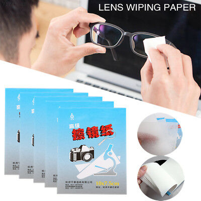 77A8 1D9E Paper Portable 5 X 50 Sheets Lens Cleaning Paper Wipes Thin Tablet