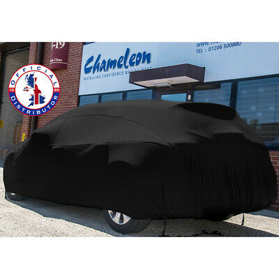 DELUXE Indoor Car Cover BLACK LARGE Super Soft breathable 130gsm elastic fabric