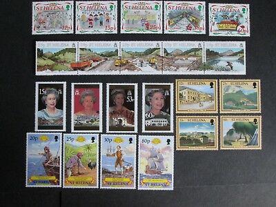 St Helena QEII Decimal stamps with Face Value of £7.33 Mint Never Hinged